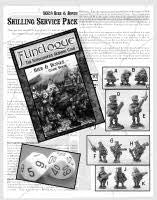 SSP04 Beir and Bones-Pro-Painted-Shilling Starter Set of 11 Miniatures & Book