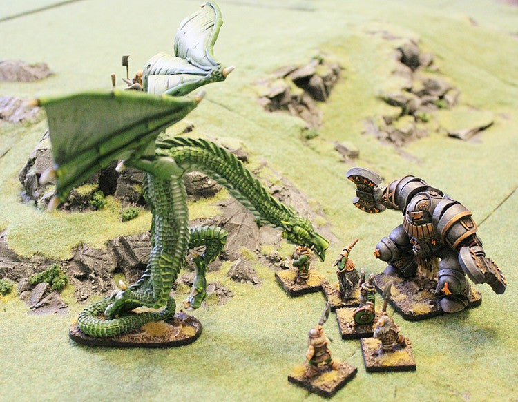 VNT33 The Wyvern Kilane - 200mm wingspan with free 28mm Human Knight!