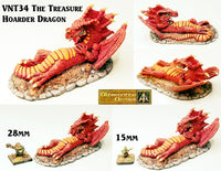 VNT34 Treasure Hoarder reclining Dragon