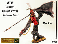 VNT42 Lord Ruza with lance on Great Wyvern Kildane - 200mm Wingspan!