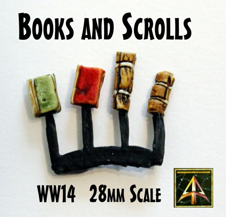 WW14 Scrolls and Books (Set of Four)