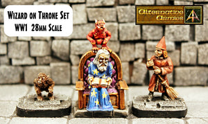 WW1 Wizard on Throne Set  (Set or Parts)