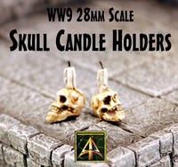 WW9 Skull Candle Holders (Set of Two)