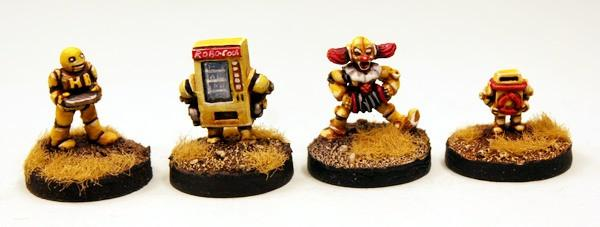 Happy Burger Bots! Four 15mm Robots