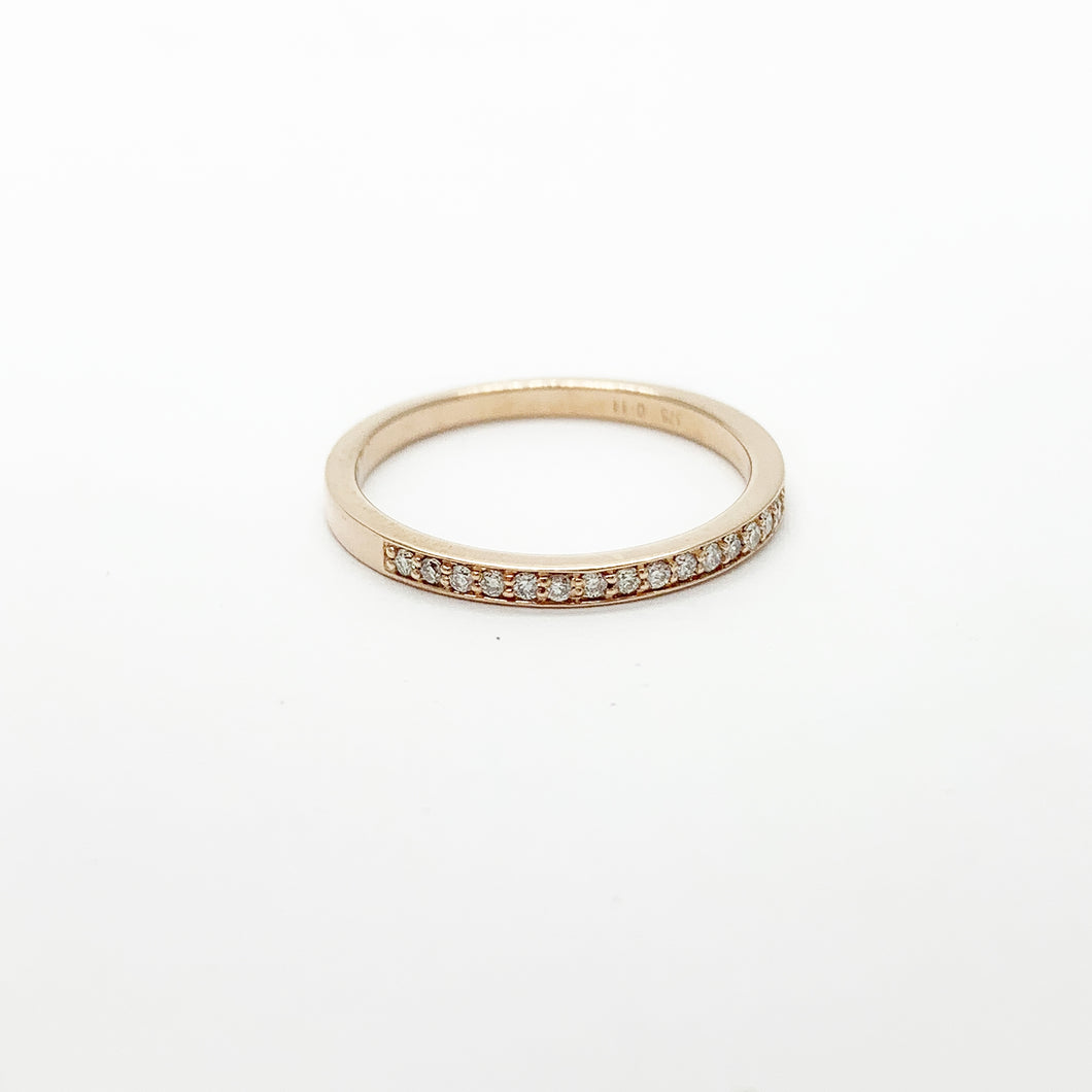 Rose Gold Diamond Band Ring