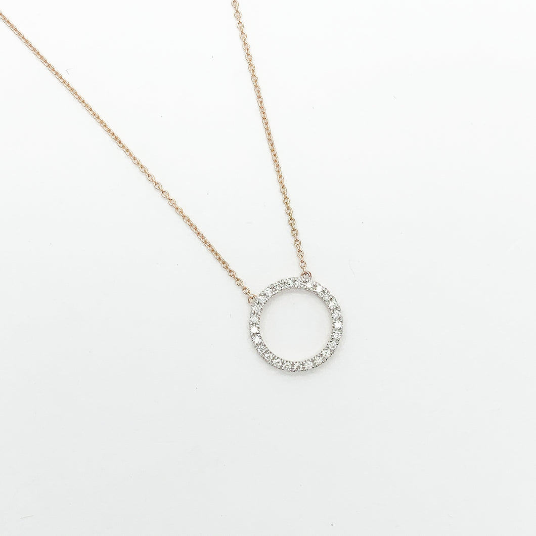 Rose Gold Diamond Necklet