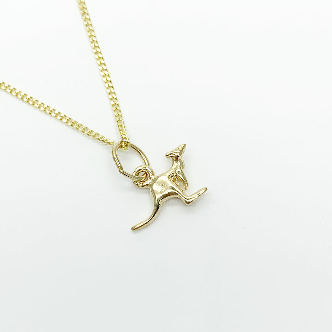 Yellow Gold Kangaroo Charm