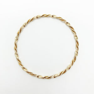 Yellow Gold Solid Twist Bangle