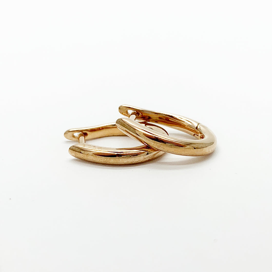 Rose Gold Hinged Hoop Earrings