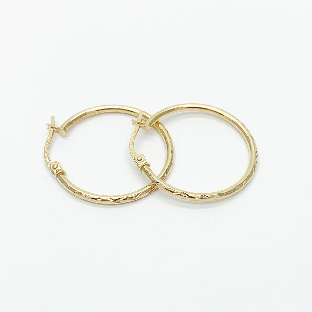 Yellow Gold 20mm Hoop Earrings