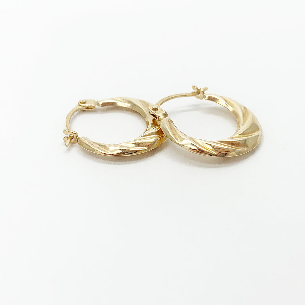 Yellow Gold 8mm Hoop Earrings
