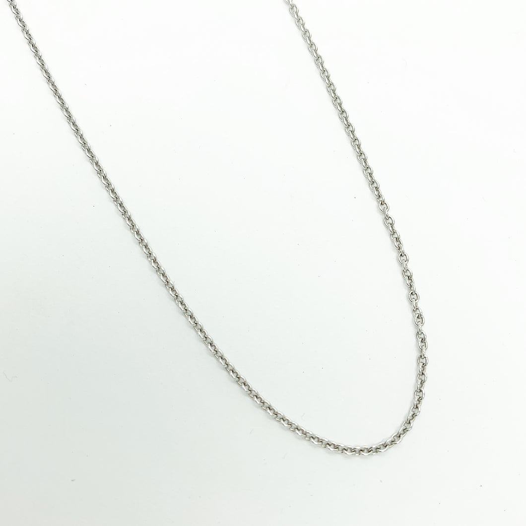 18ct White Gold 45cm Chain