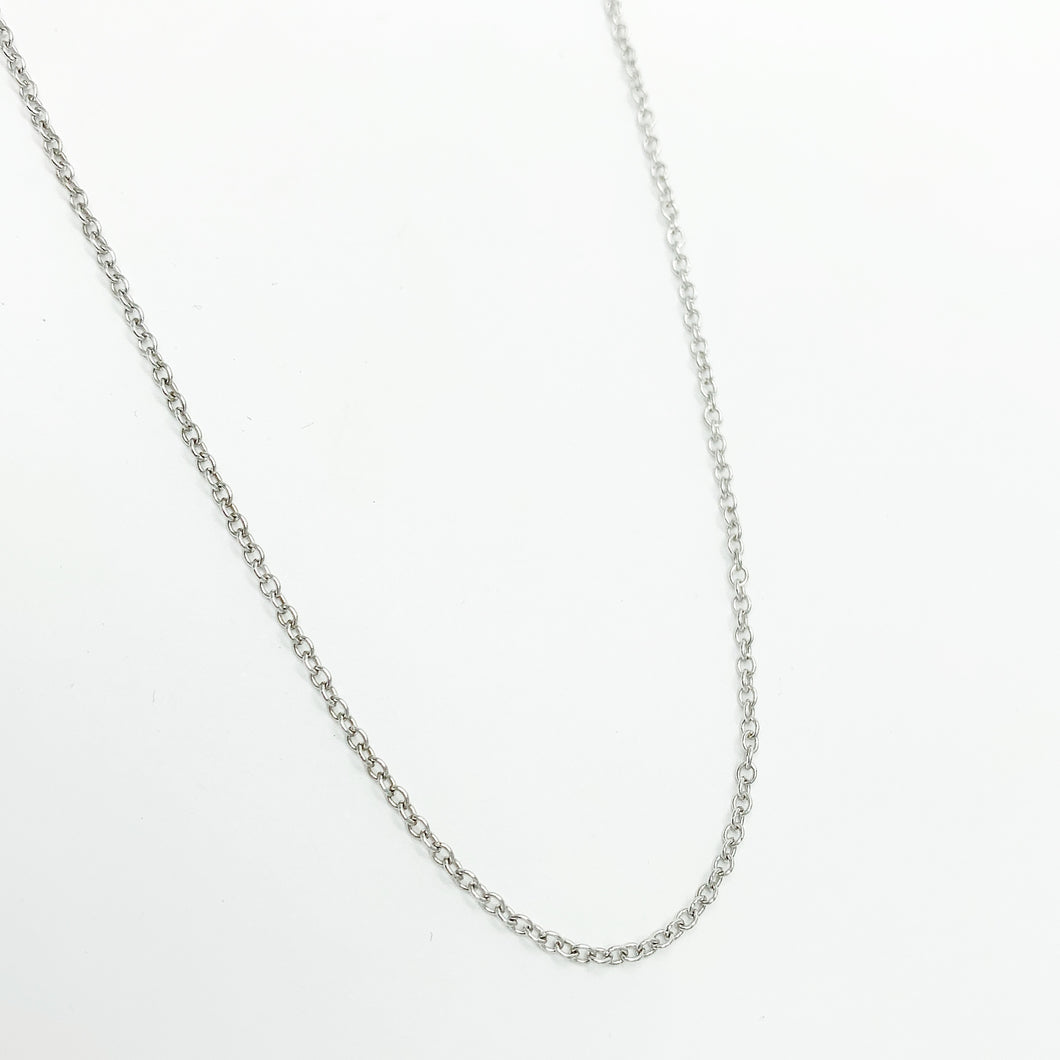 9ct White Gold 50cm Chain