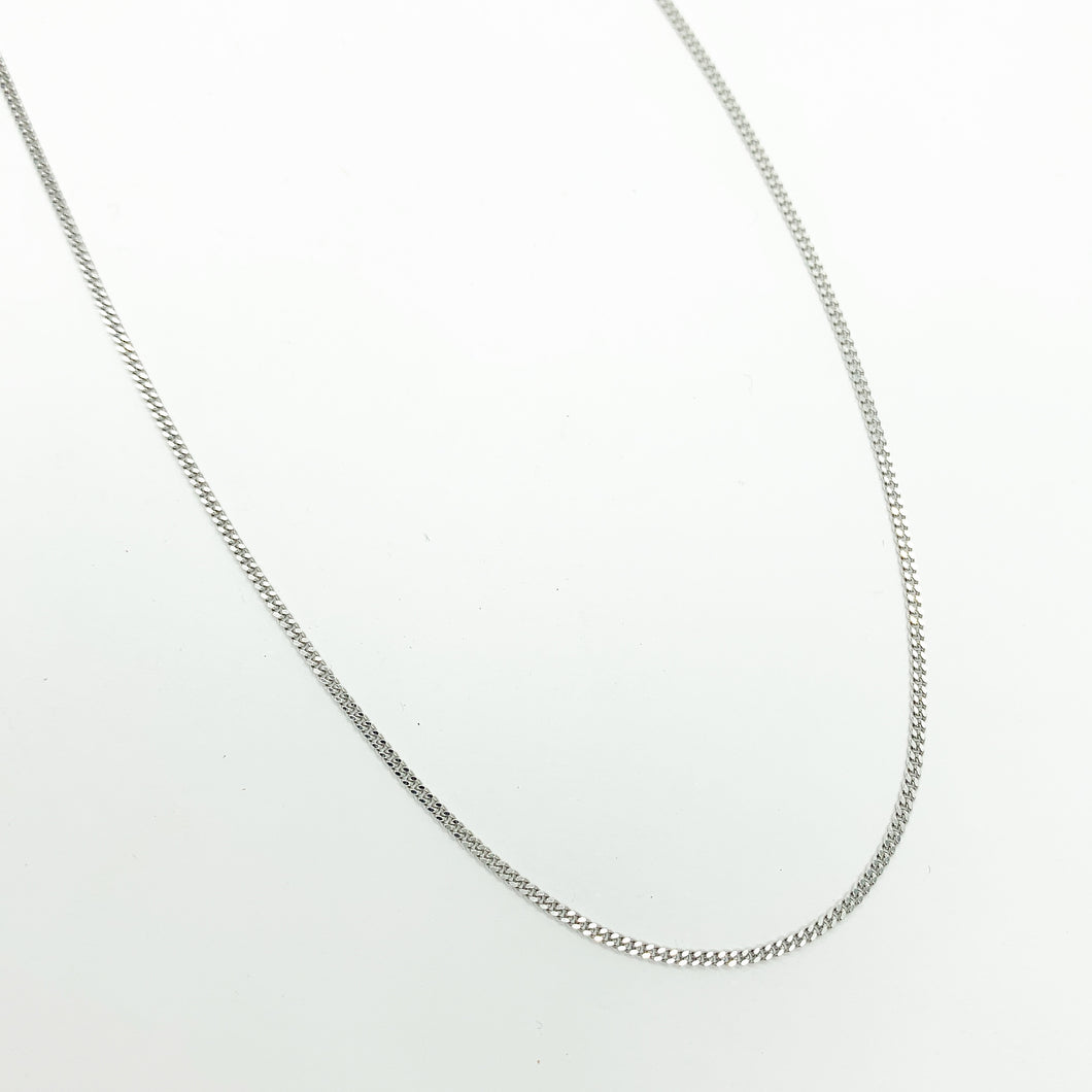 9ct White Gold 45cm Chain