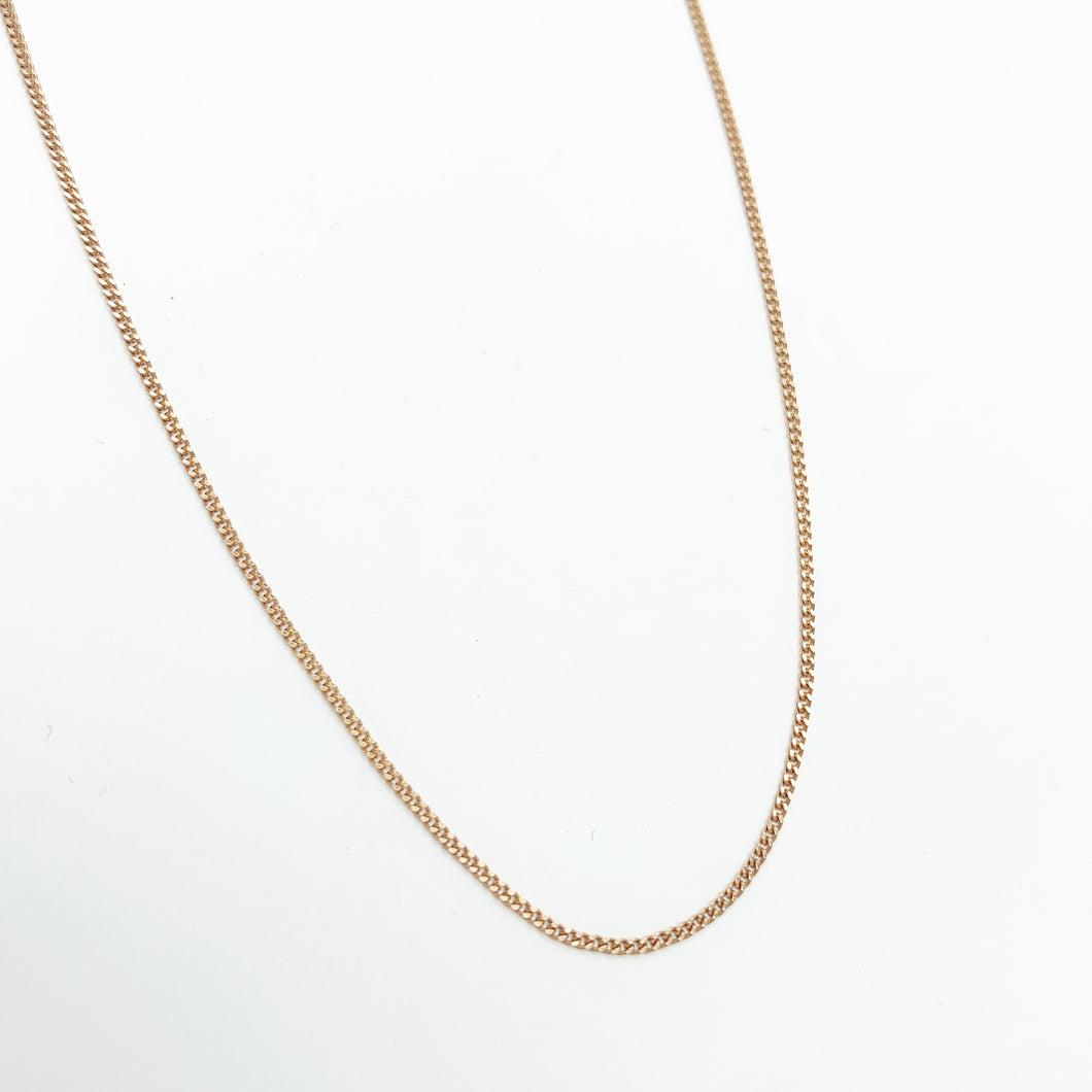 9ct Rose Gold 45cm Chain