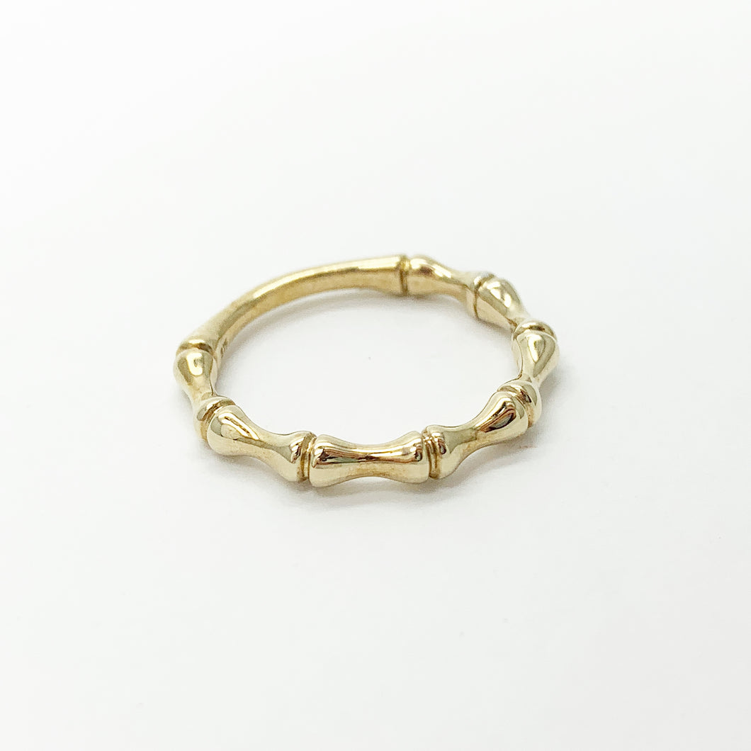 Yellow Gold Bamboo Design Ring