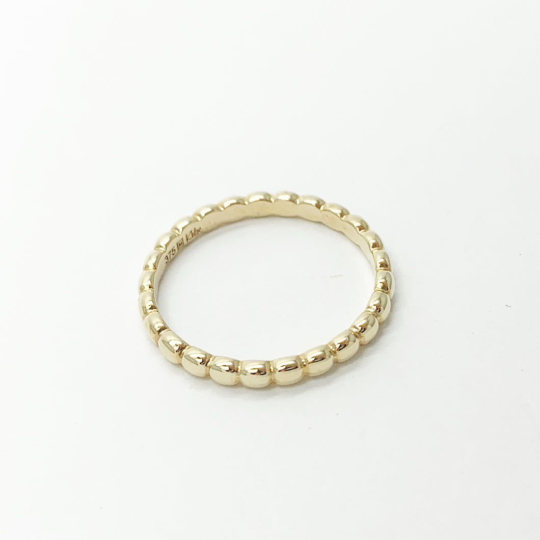 Yellow Gold Bubble Band Ring