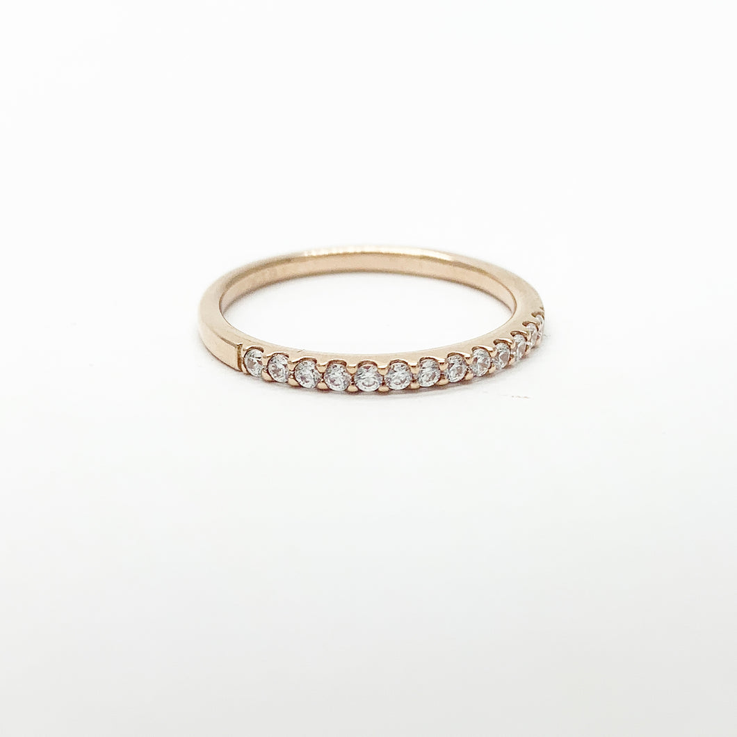 Rose Gold Swarovski CZ Ring
