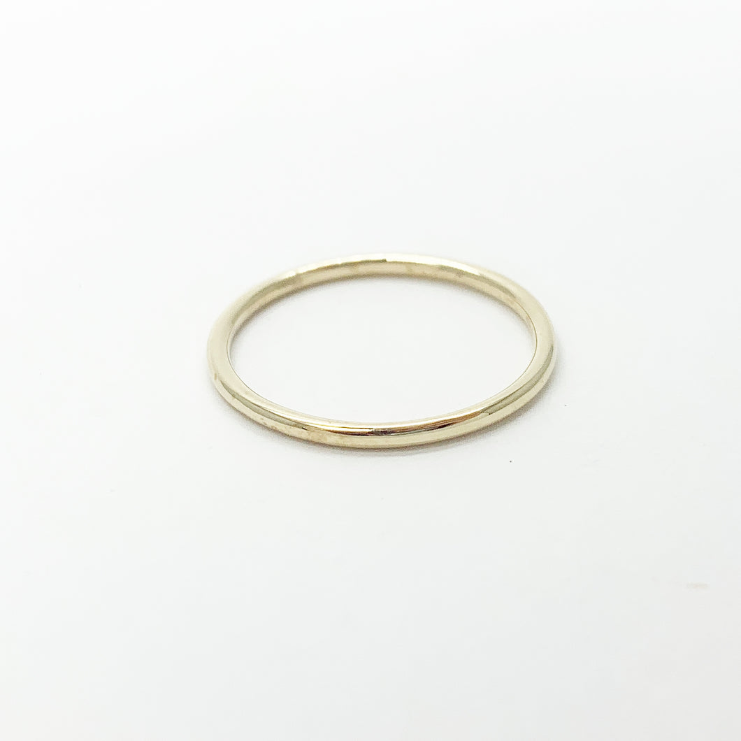 Yellow Gold Plain Band Ring