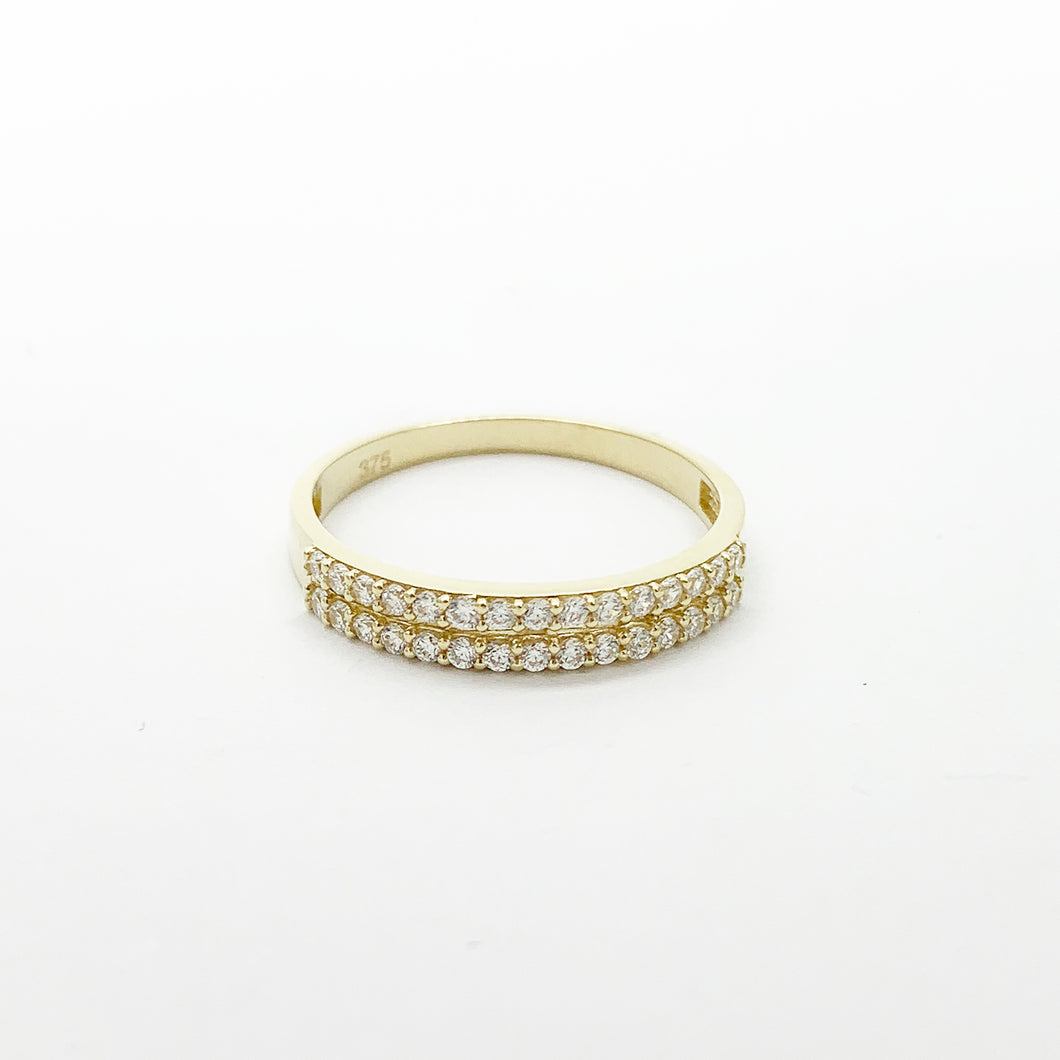 Yellow Gold CZ Ring