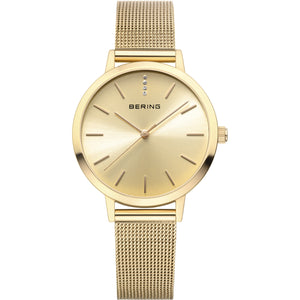 Bering Classic Collection Gold/Sunray Dial Watch