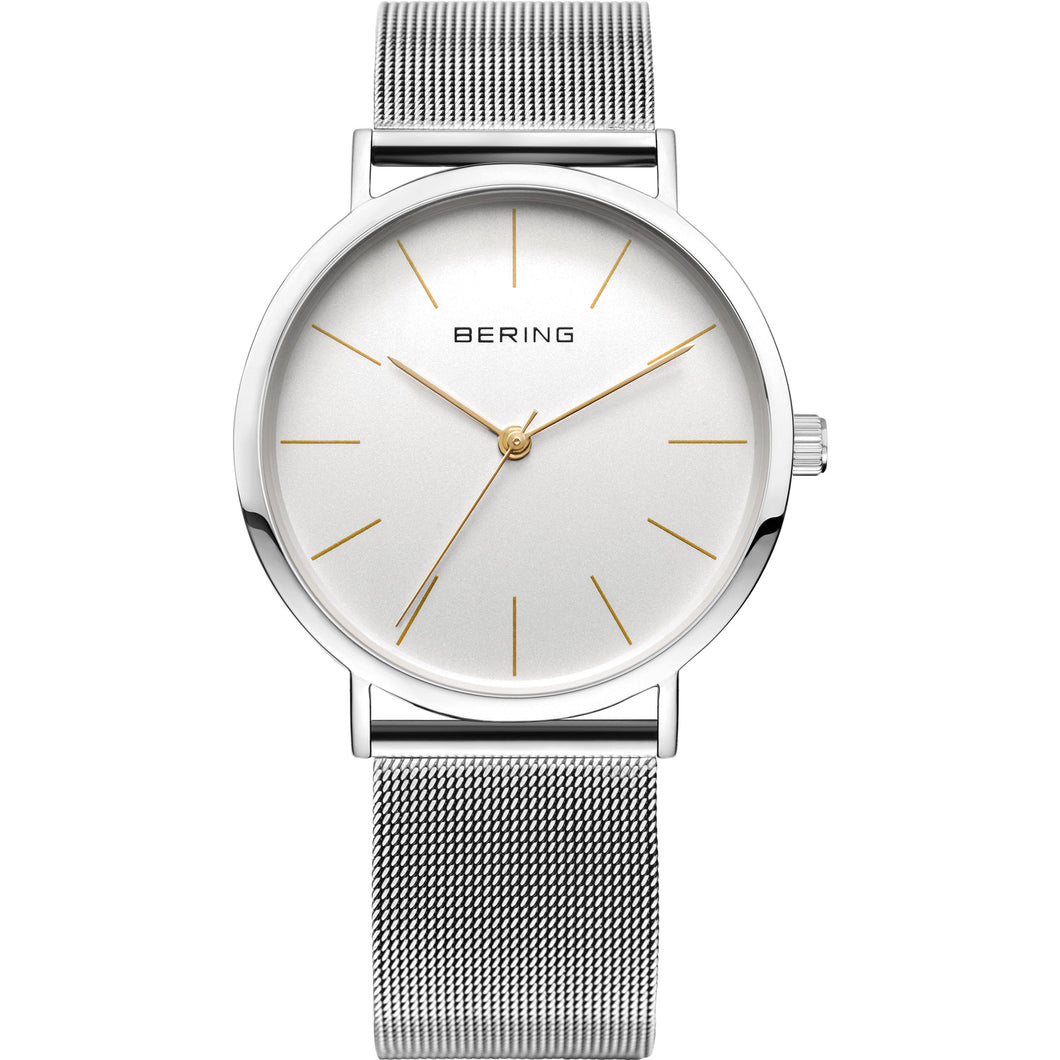 Bering Classic Collection Silver/White Watch