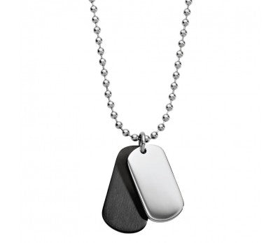 BLAZE Mens Stainless Steel Dog Tag Pendant