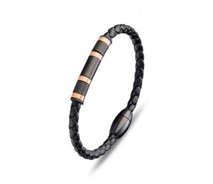 BLAZE Mens Leather Bracelet
