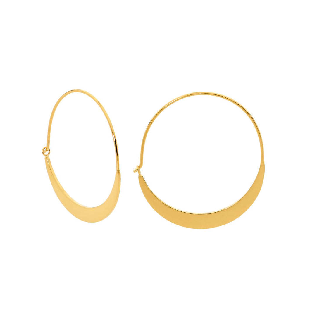 Ellani Stainless Steel/Gold Plated Hoop Earrings