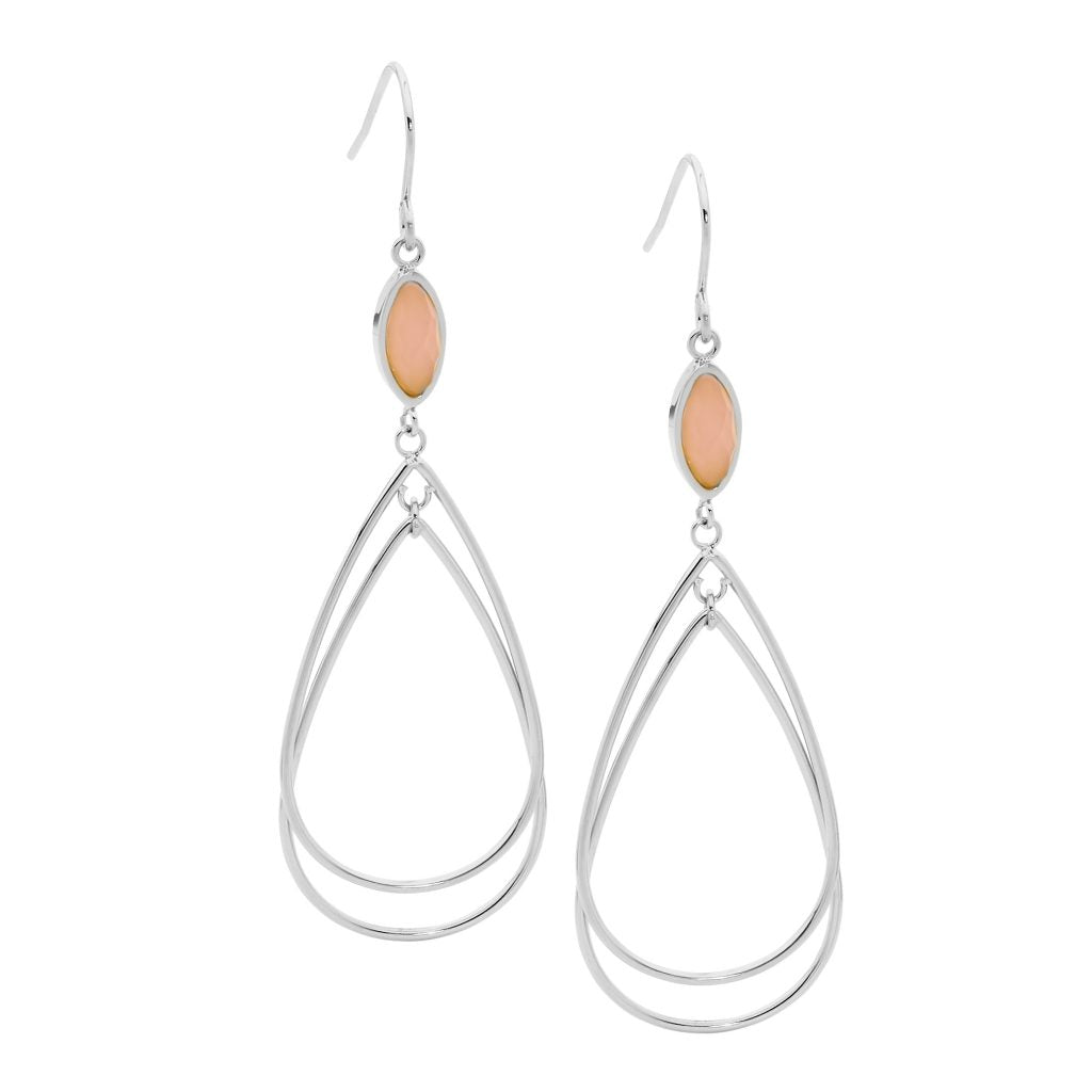 Ellani Stainless Steel Drop Earrings