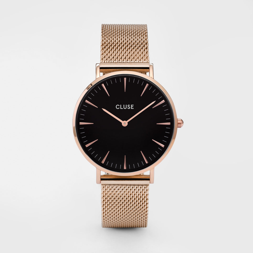 CLUSE La Boheme Mesh Rose Gold, Black