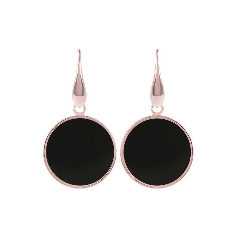 Bronzeallure Black Onyx Drop Earrings