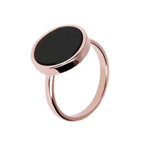 Bronzeallure Black Onyx Ring