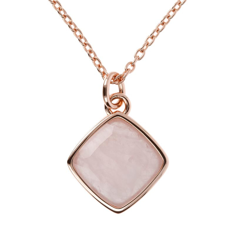 Bronzeallure Rose Quartz Pendant