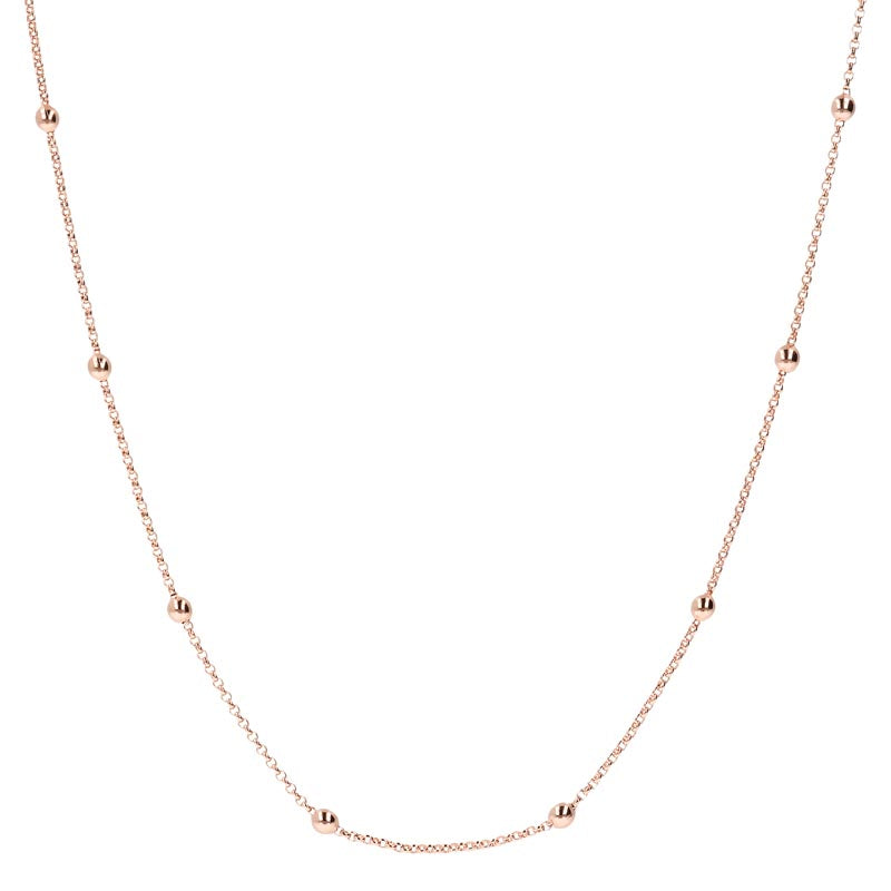 Bronzeallure Mini Rolo Bead 45cm Chain