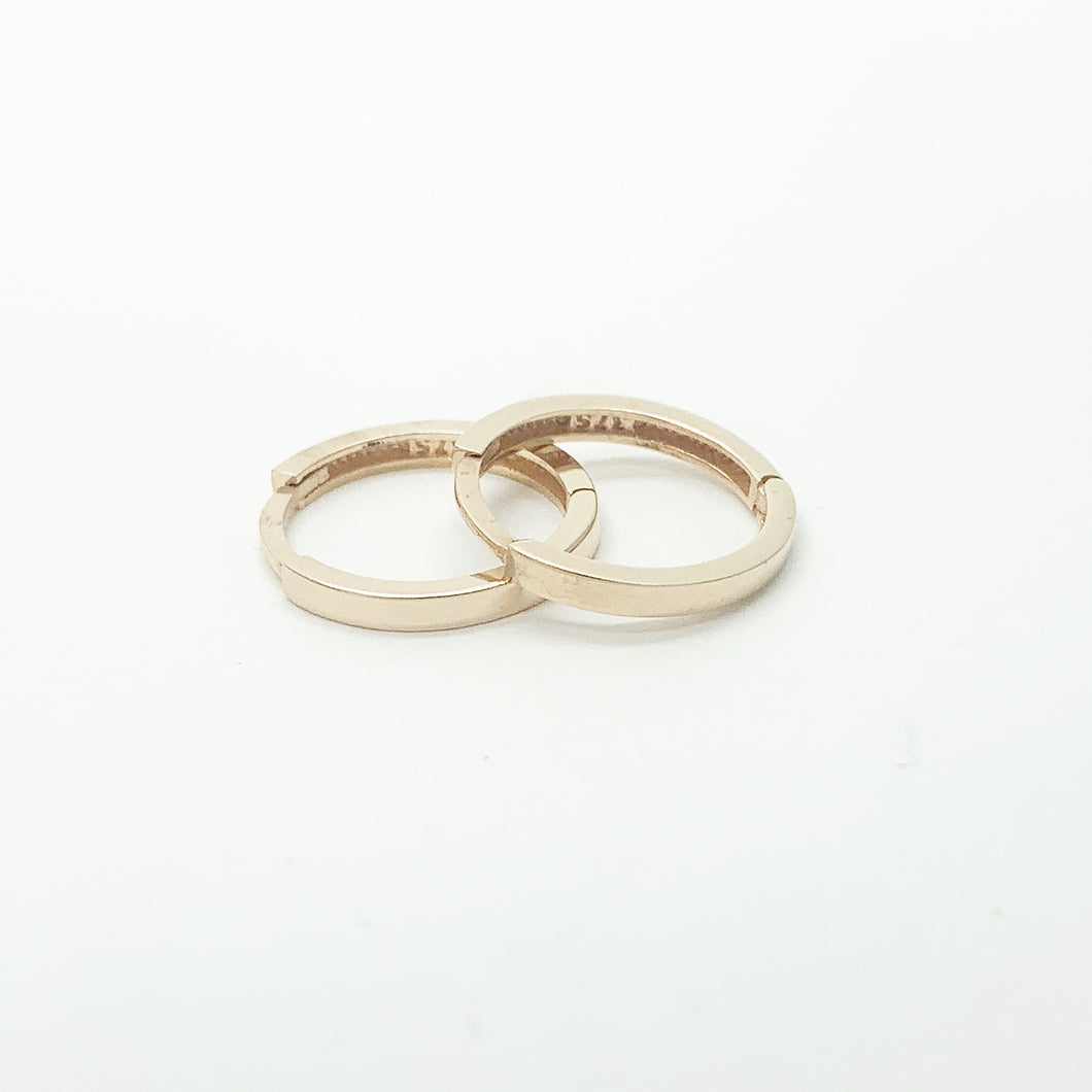Rose Gold 12mm Huggie Earrings