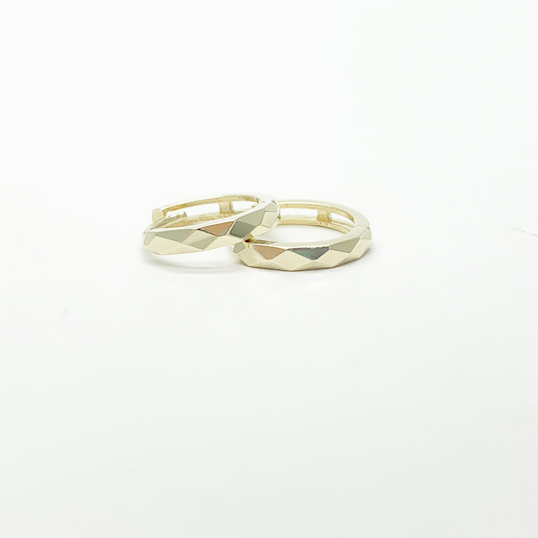 Yellow Gold 10mm Huggie Earrings
