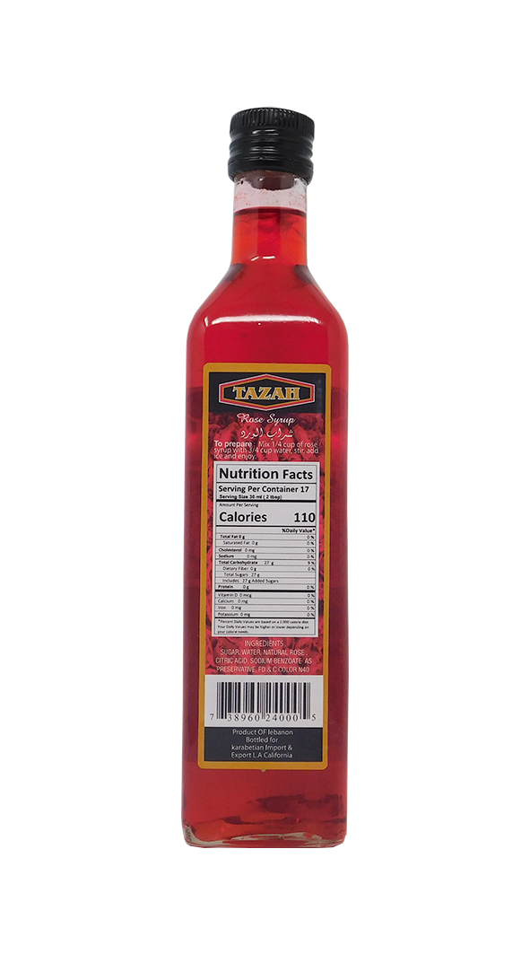 Tazah Rose Syrup 500ml - Mideast Grocers