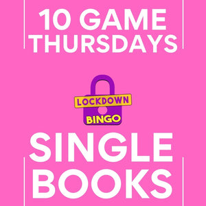 SINGLE BOOK Lockdown Bingo 10 Game Thursday January 21st 8pm