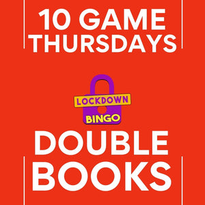 DOUBLE BOOK Lockdown Bingo 10 Game Thursday January 21st