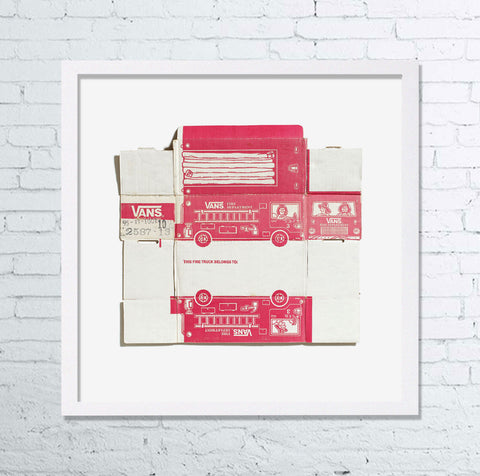 #FLYOFFTHEWALL commemorative box print ¬ vans fire department