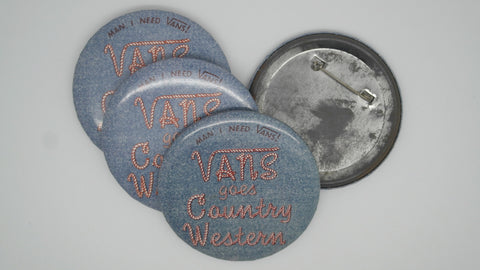 vintage vans country western badge