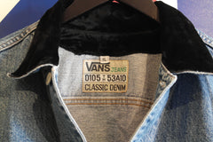 vintage vans classic denim jacket ~ xl