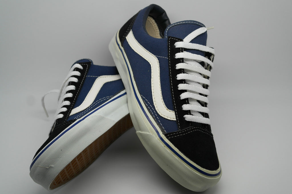 vans old skool vintage navy