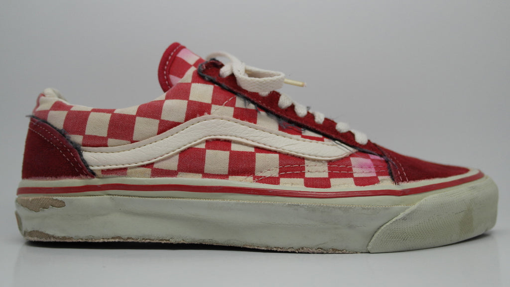 vans old skool red and white checkered