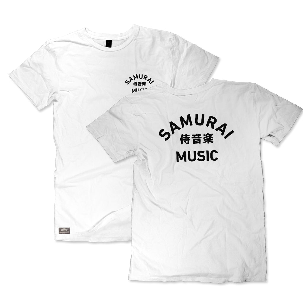 Samurai Music - Arc Logo T Shirt (White)