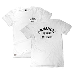 Samurai Music - Arc Logo T-Shirt (White)