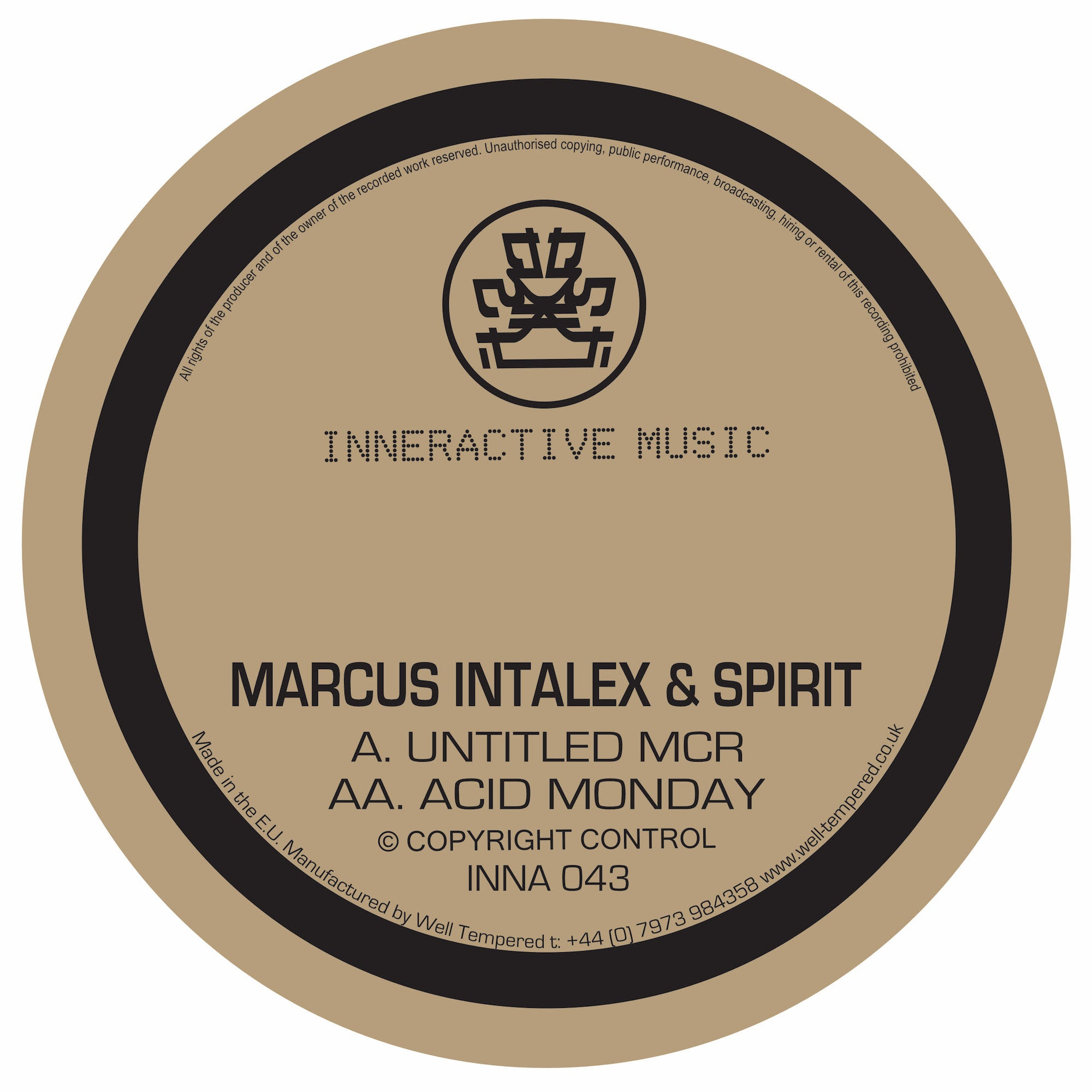 Marcus Intalex & Spirit - Untitled MCR / Acid Monday