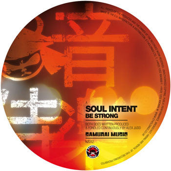 Soul Intent 'Be Strong' / 'Point Pleasant' (Vinyl)