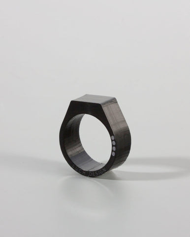 Stamp Ring Black